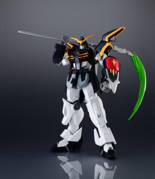 """Aus dem Gundam Universum kommt diese großartige und voll bewegliche Actionfigur aus Tamashii Nations """"Gundam Universe""""-Reihe.Die Figur ist ca. 16 cm groß und wird mit weiterem Zubehör sowie Austauschteilen in einer Fensterbox geliefert."""