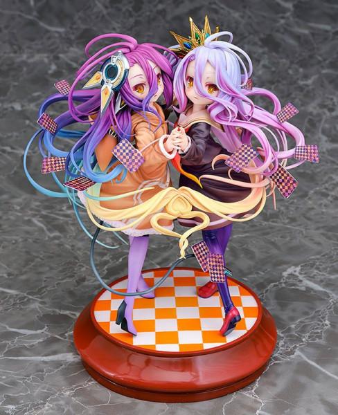 Zum Anime ´No Game No Life´ kommt diese detailreiche PVC Statue im Maßstab 1:7. Sie ist ca. 22 cm gross und wird mit Base in einer Fensterbox geliefert.
