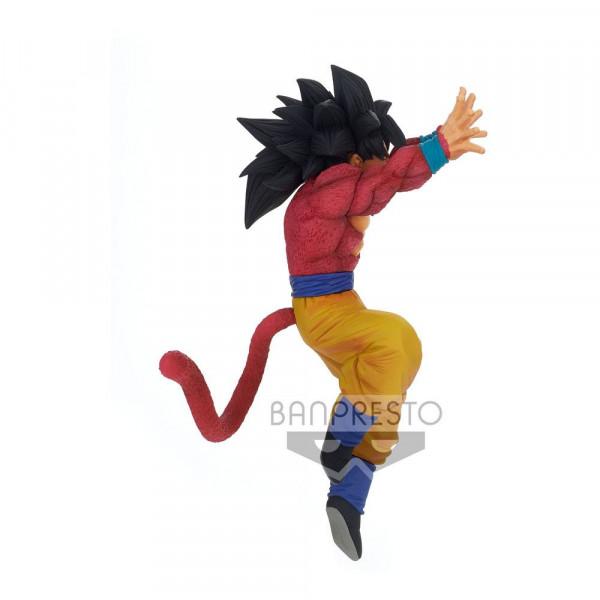 """Aus Banpresto's """"Son Goku Fes"""" Statuen-Reihe kommt diese detailreiche PVC Statue aus dem Anime """"Dragonball Super"""". Sie ist ca. 16 cm groß und wird inkl. Base in einer bedruckten Box geliefert."""