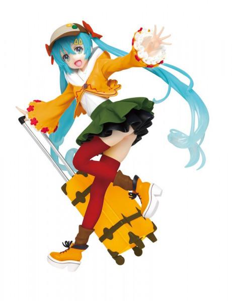 """Zu """"Vocaloid"""" kommt diese PVC Statue von Miku Hatsune. Sie ist ca. 18 cm groß und wird in einer bedruckten Box geliefert."""