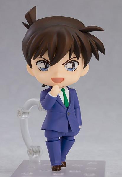 """Zum Anime """"Detektiv Conan"""" kommt diese detailreiche Actionfigur im """"Nendoroid""""-Design. Sie ist ca. 10 cm groß und wird mit weiterem Zubehör und Austauschteilen in einer Fensterbox geliefert."""