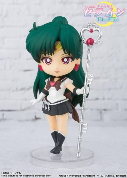 """Zu Anime-Film """"Sailor Moon Eternal"""" kommt diese detailreiche Actionfigur aus Tamashii Nations """"Figuarts mini""""-Reihe. Sie ist ca. 9 cm groß und wird in einer Fensterbox geliefert."""