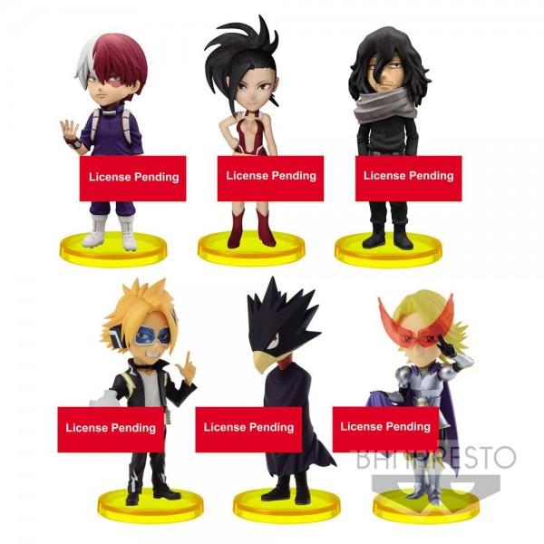"""Aus Banprestos """"WCF ChiBi (World Collectible Figure)""""- Reihe kommt dieses Sortiment mit 28 Minifiguren (6-fach sortiert). Die detailreichen, PVC Figuren sind ca. 7 cm groß und werden mit Base geliefert."""
