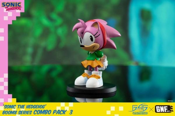 Als Ergebnis einer Kollaboration zwischen First 4 Figures und Gnftoyz kommt diese großartige PVC Figur zum Videospiel Sonic The Hedgehog. Sie ist ca. 8 cm groß und wird in einer bedruckten Fensterbox geliefert.