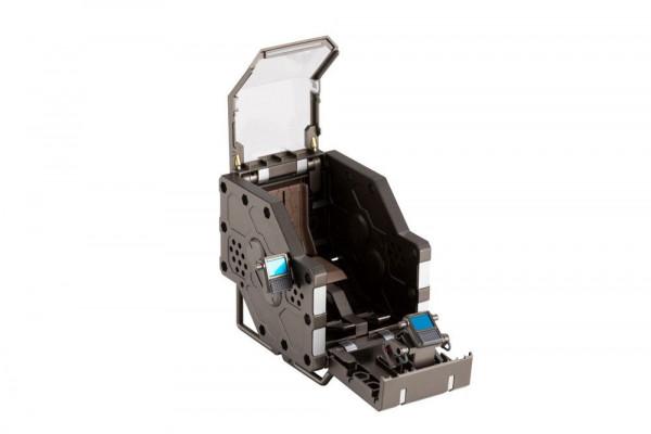 """Aus Kotobukiyas hauseigener Mecha-Reihe """"Hexa Gear"""" kommt dieses """"Model Kit"""" von Multi Pod.Zusammengebaut ist es ca. 9 cm groß. Es verfügt über diverse Artikulationspunkte und Austauschteile. So kann die Figur in verschiedenen Posen präsentiert werden."""