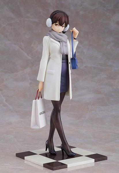 Zum japanischen Computerspiel ´Kantai Collection´ kommt diese hochwertige Statue von Kaga. Die detailreiche PVC Figur im Maßstab 1:8 ist ca. 21 cm gross und wird in einer bedruckten Fenster Box geliefert.