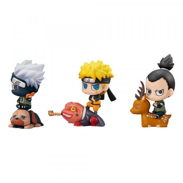 Zur beliebten Anime-Serie ´Naruto Shippuden´ kommt dieses Sortiment mit 8 super-niedlichen Sammelfiguren. Jede Figur ist ca. 5 cm groß.