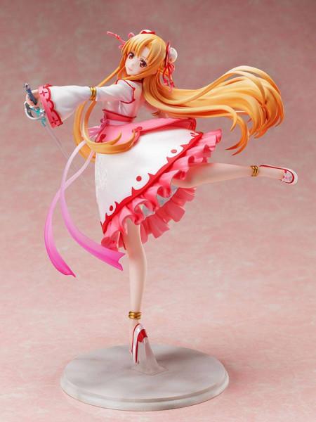 """Zur Anime-Serie """"Sword Art Online: Alicization War of Underworld"""" kommt diese detailreiche PVC Statue im Maßstab 1:7. Sie ist ca. 24 cm groß und wird mit Base in einer Fensterbox geliefert."""