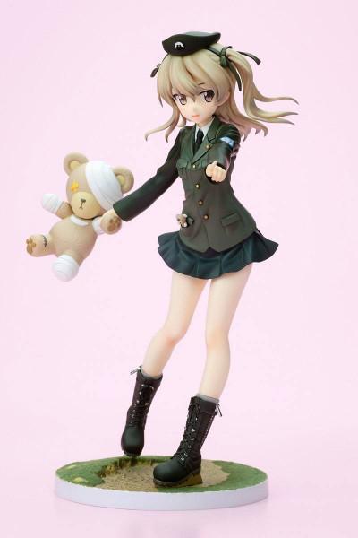 Zum Anime ´Girls und Panzer´ kommt diese detailreiche PVC Statue im Maßstab 1:8. Sie ist ca. 19 cm gross und wird mit Base in einer Fensterbox geliefert.