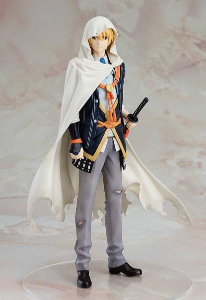 Zum japanischen Computerspiel ´Touken Ranbu -ONLINE-´ kommt diese hochwertige Statue von Yamambagiri Kunihiro.Die detailreiche PVC Figur im Maßstab 1:8 ist ca. 22 cm groß und wird in einer bedruckten Fensterbox geliefert.