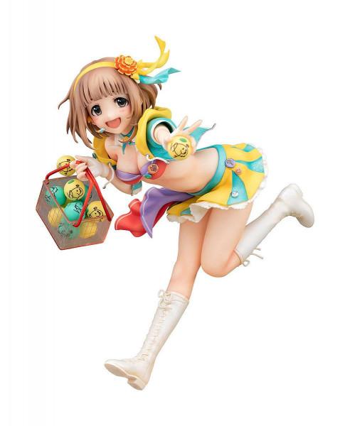 """Zum Videospiel """"The Idolmaster Cinderella Girls"""" kommt diese detailreiche PVC Statue im Maßstab 1:8. Sie ist ca. 17 cm groß und wird mit Base in einer Fensterbox geliefert."""