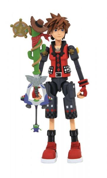 Zum Videospiel 'Kingdom Hearts 3' kommt diese detailreiche Actionfigur.Die Figur ist 18 cm groß. Sie wird mit Zubehör in einer Blisterverpackung geliefert.