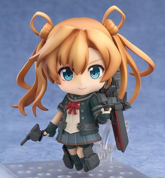 Zum japanischen Computerspiel ´Kantai Collection´ kommt diese detailreiche Actionfigur im ´Nendoroid´-Design. Sie ist ca. 10 cm groß und wird mit Base geliefert.
