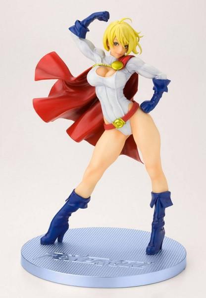 Aus Kotobukiyas beliebter ´Bishoujo´-Reihe kommt diese aufregende PVC Statue von Power Girl.Die von Shunya Yamashita entworfene Statue ist ca. 23 cm groß und wird mit ansprechender Base in einer Fensterbox geliefert.