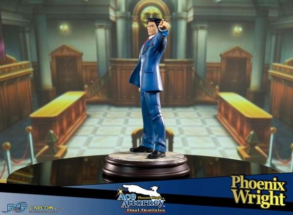 Zum Videospiel Phoenix Wright: Ace Attorney - Dual Destinies kommt diese limitierte Statue von Phoenix Wright im Maßstab 1/6. Die aus hochwertigem Resin hergestellte Statue ist ca. 34 x 20 x 26 cm groß und wird inkl. Base und Authentifizierungskarte, styr