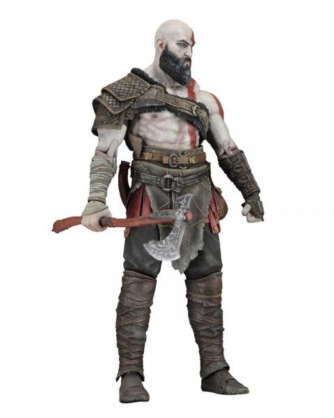 Zum Videospiel God of War (2018) kommt diese detailreiche Actionfigur im Maßstab 1:4 von Kratos. Sie ist ca. 45 cm groß und kommt mit weiterem Zubehör in einer schicken Fensterbox.
