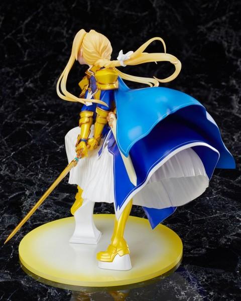 """Zur Anime-Serie """"Sword Art Online: Alicization"""" kommt diese detailreiche PVC Statue im Maßstab 1:7. Sie ist ca. 21 cm groß und wird mit Base in einer Fensterbox geliefert."""