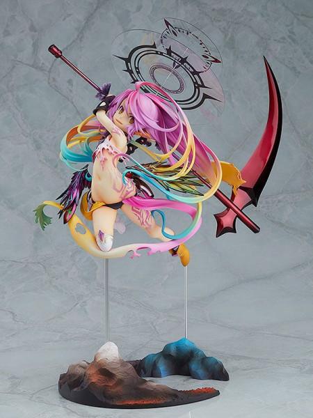 Zum Anime Film ´No Game No Life -Zero-´ kommt diese detailreiche PVC Statue von Jibril im Maßstab 1:8. Sie ist ca. 31 cm gross und wird mit Base in einer Fensterbox geliefert.