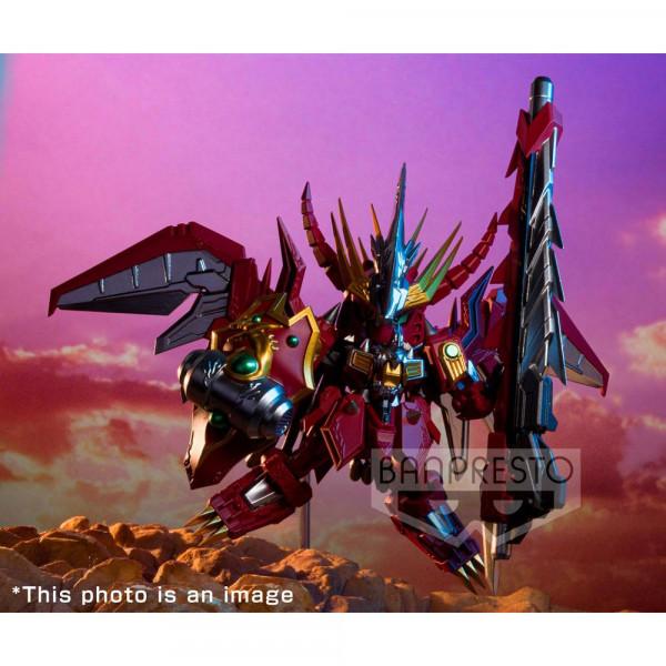 """Zum """"SD Gundam"""" Franchise kommt diese detailreiche PVC Statue. Sie ist ca. 9 cm groß und wird inkl. Base in einer bedruckten Box geliefert."""