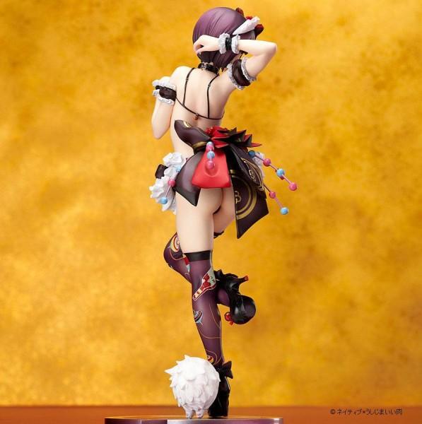 Native präsentiert diese aufreizende PVC Statue vom japanischen Cosplay Star Iiniku Ushijima im Maßstab 1/7. Sie ist ca. 24 cm groß und wird in einer Fensterbox geliefert.