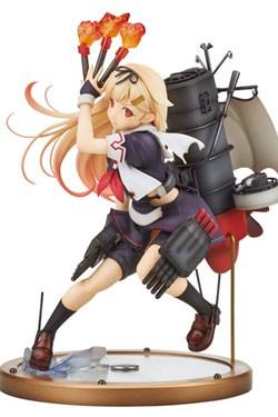 Zum japanischen Computerspiel ´Kantai Collection´ kommt diese hochwertige Statue vom Yudachi Kaini.Die detailreiche PVC Figur im Maßstab 1:8 ist ca. 18 cm gross und wird in einer bedruckten Fenster Box geliefert.