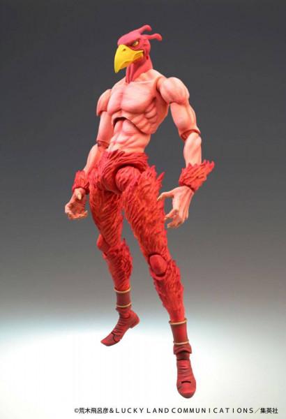 """Zum Manga """"JoJo's Bizarre Adventure"""" kommt diese detailreiche Actionfigur. Sie ist ca. 16 cm groß und kommt mit austauschbaren Teilen in einer Fensterbox."""