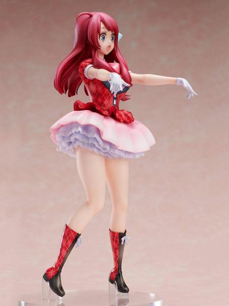 """Zur Anime-Serie """"Zombie Land Saga"""" kommt diese hochwertige Statue von Sakura Minamoto. Die detailreiche PVC Statue im Maßstab 1:7 ist ca. 23 cm groß und wird in einer bedruckten Fensterbox geliefert."""