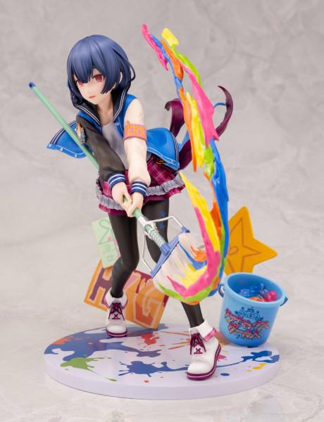 """Zum Videospiel """"The Idolmaster Shiny Colors"""" kommt diese detailreiche PVC Statue im Maßstab 1:8. Sie ist ca. 19 cm groß und wird mit Base in einer Fensterbox geliefert."""